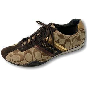 COACH Signature 'Jayme' Lace Up Tennis Shoes Sz 8